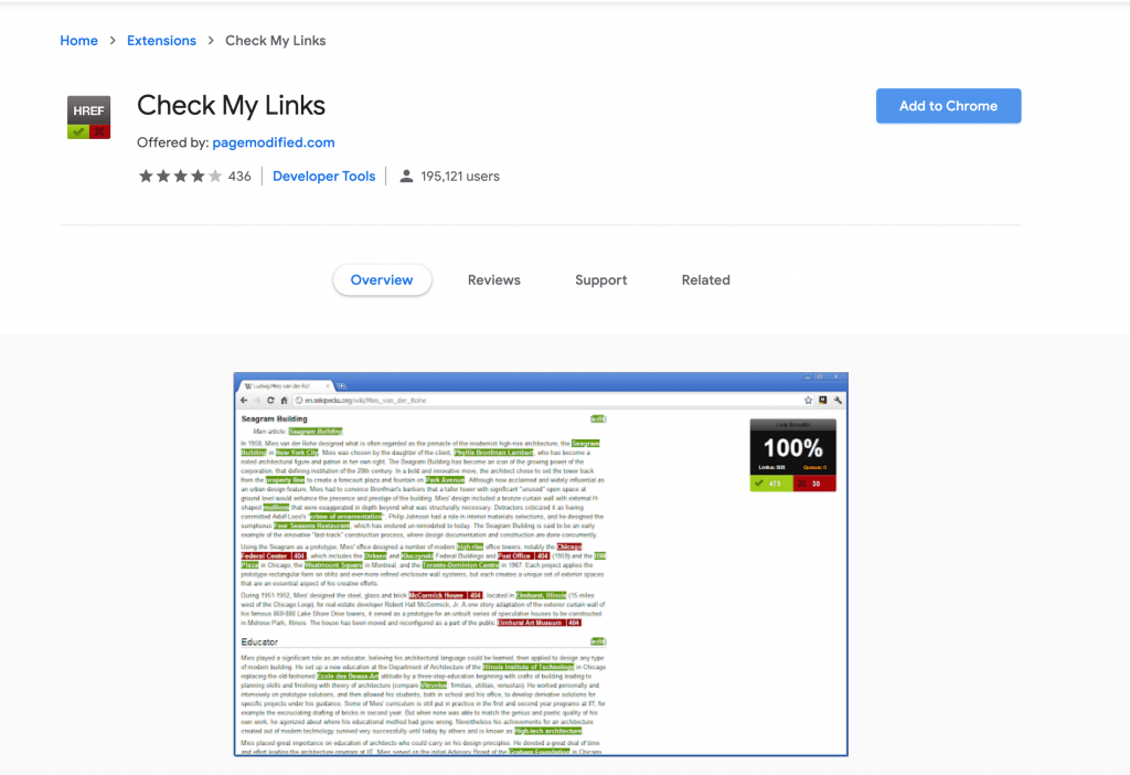 Link building with Check My Links