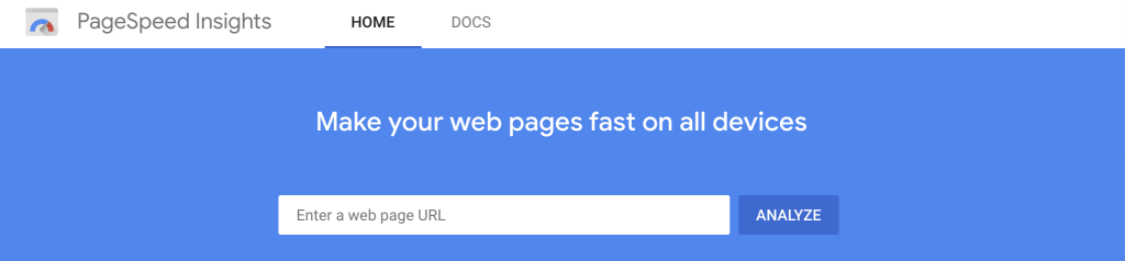 Google PageSpeed Tool - PageSpeed Insights